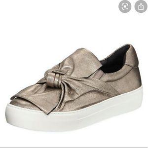 J. Slides Metallic bow sneakers